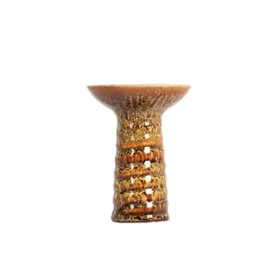 Купить Чаша NJN Swirl Glaze Жёлто-Коричневая за 23,5 в магазине Кальянная Республика