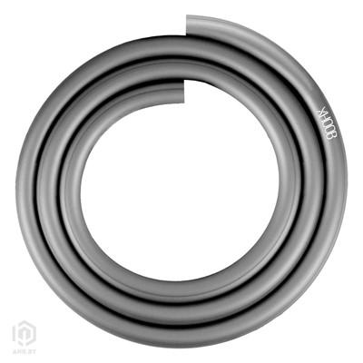 Купить Шланг силиконовый для кальяна Hoob серебристый за 25,99 в магазине Кальянная Республика