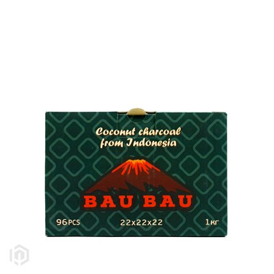 Купить Уголь кокосовый Bau Bau 1кг 96шт 22мм за 11,50 в магазине Кальянная Республика