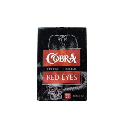 Купить Уголь кокосовый Cobra Red Eyes 1кг 72шт за 10,6 в магазине Кальянная Республика