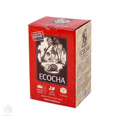 Купить Уголь кокосовый Ecocha 1кг 72шт 25мм за 9,90 в магазине Кальянная Республика