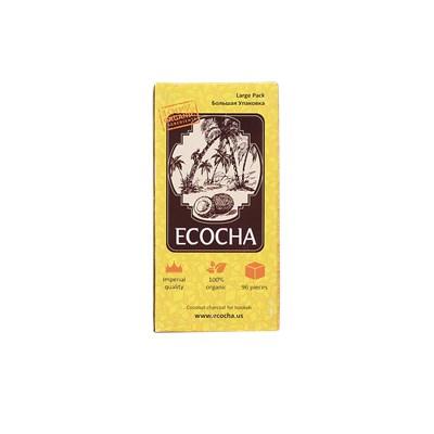 Купить Уголь кокосовый Ecocha 1кг 96 шт 22мм за 10,50 в магазине Кальянная Республика