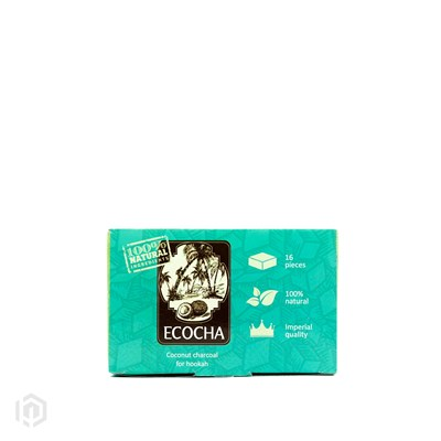 Купить Уголь кокосовый 'Экоча' (Ecocha) по 16 кубиков за 2,90 в магазине Кальянная Республика