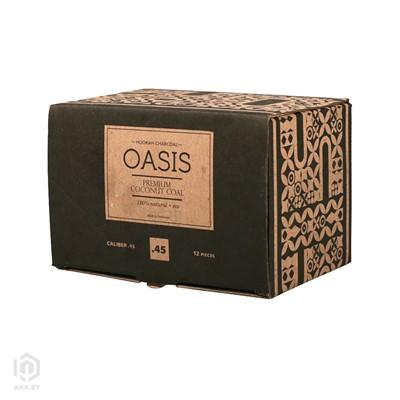 Купить Уголь кокосовый Oasis Premium coal 1кг 12шт 45мм за 22,99 в магазине Кальянная Республика